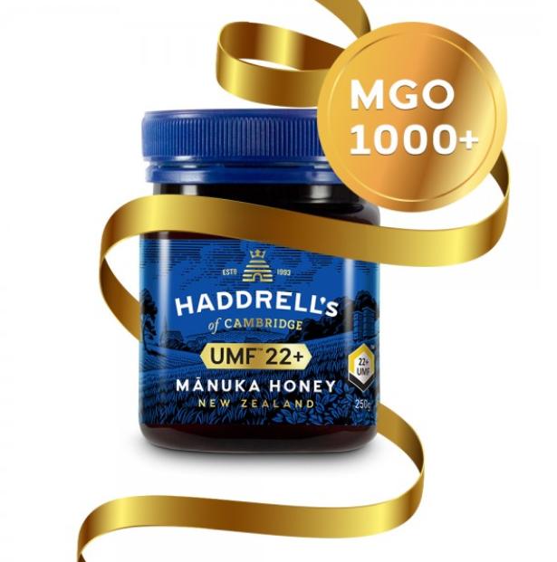 Manuka med Haddrell's UMF22+ ( MGO 1000+ ), 250g